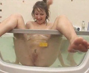 Russian chicks playing in a jacuzzi