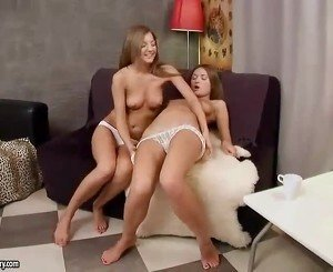 Hot teen lesbians toying their assholes
