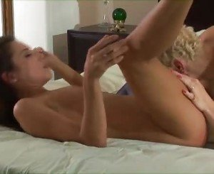 Lip-lappers Dylan Ryan and Celeste Star enjoy each other's tw...