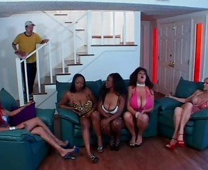 Kat Kleevage and friends in a lesbian orgy