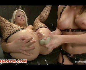 Fetish Lesbian Slave Anal Fisted by Domina