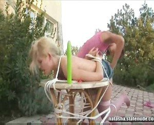 Russian lesbian tied up and fucked