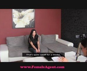 FemaleAgent. Shy beauty takes the bait