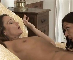 Sultry lesbos Michelle Lay and Ann Marie know how to lick cun...