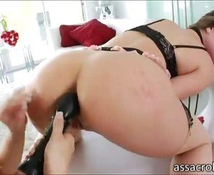 Booty babe lesbos Alexis Texas and Tori Black toy rips asses