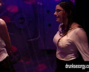Horny lesbians fucking in the club