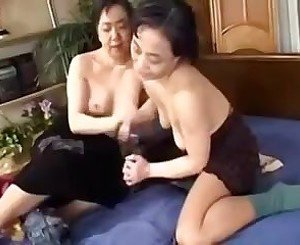 Japanese Mature Lesbians enjoy each other