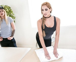 Madelyn Monroe & Chloe Amour in Thank You Massage - AllGirlMassage