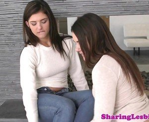 Thick lesbian tribbing girlfriend after oral