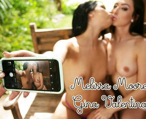 Let's take some nasty pictures! Melissa Moore&Gina Valentina